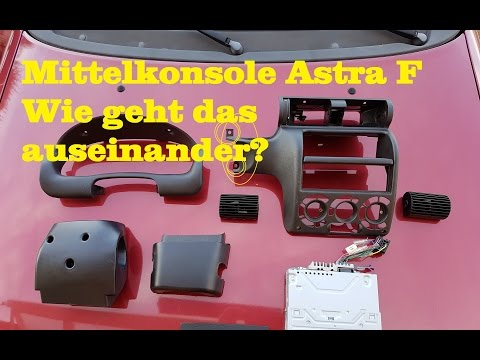 Mittelkonsole Opel Astra F   How to dismantle  central console
