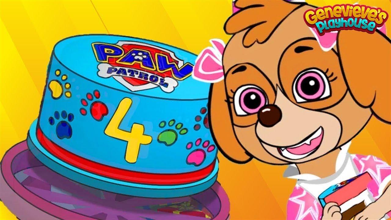 Paw Patrol Skye в день рождения анимация для детей!