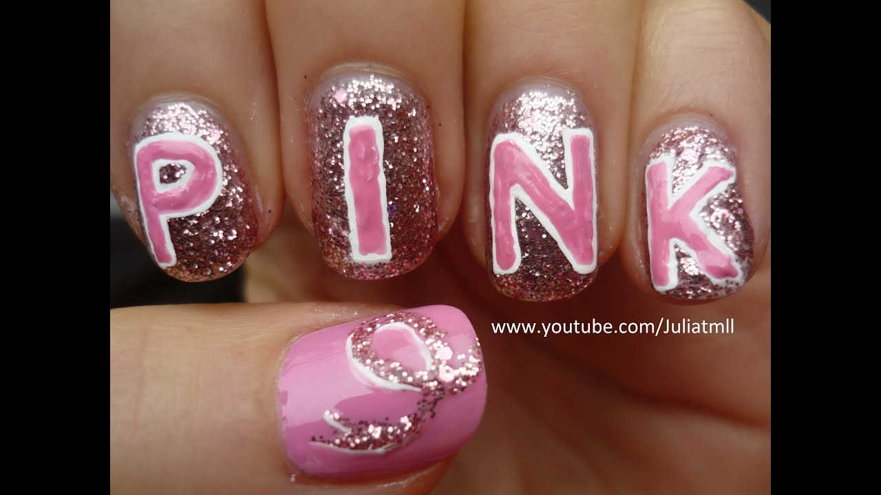 T Cancer Awareness Nail Art Tutorial You