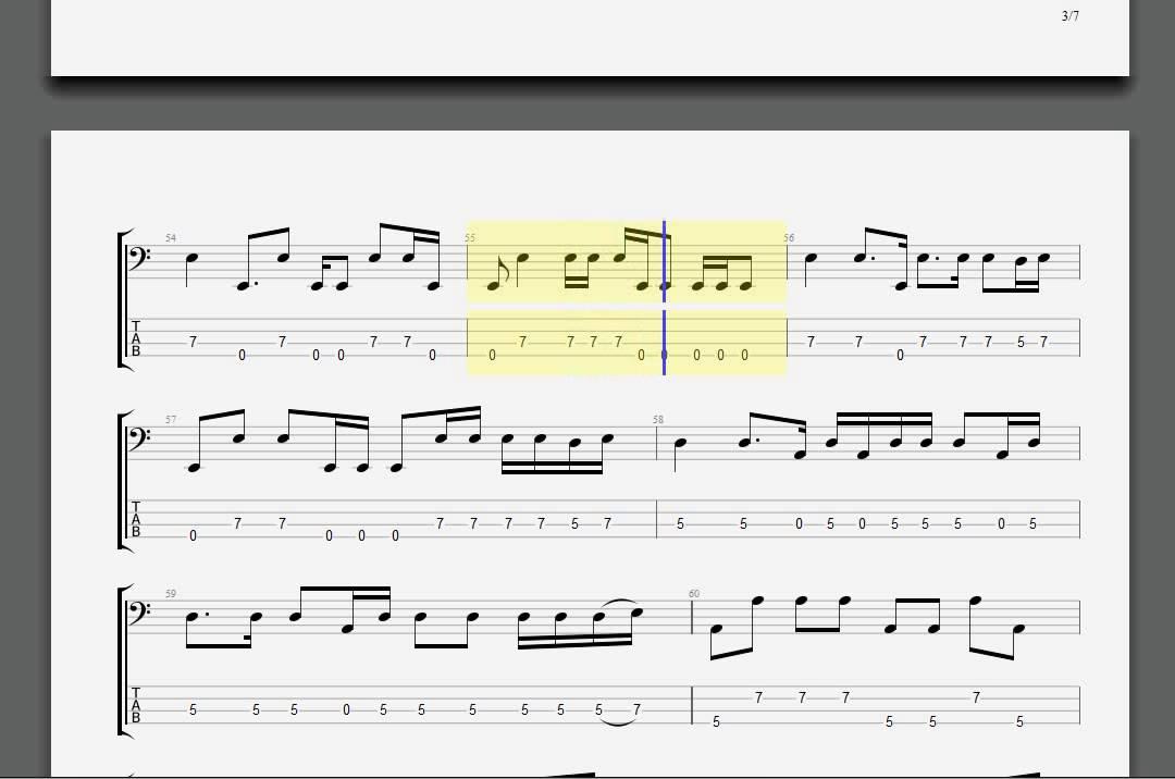 Metallica Turn The Page Bass Guitar Tablature Youtube