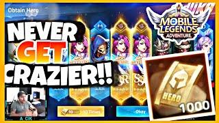 1000 CRAZIEST SUMMONS EVER / PATIENCE LEVEL OVER 9000! | Mobile Legends Adventure screenshot 3