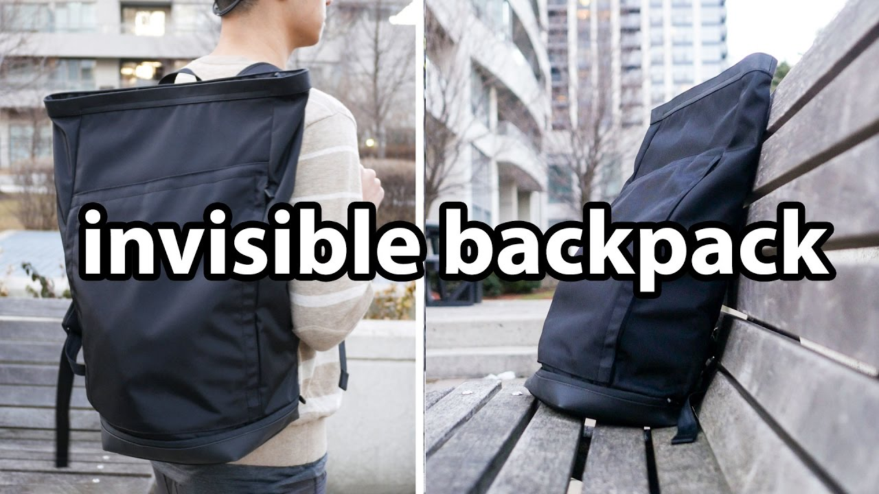 Invisible Backpack ONE - Simple is Best - Minimal Laptop Bag - YouTube c31d99be8e8ac