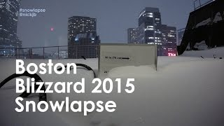 boston blizzard 2015 snowlapse watch the snow pile up 40 hour time lapse in hd