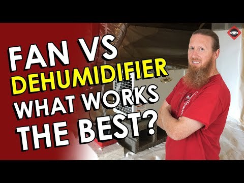 Crawl Space Fan vs Dehumidifier Before/After | Do Crawl Space Fans Dry better than Dehumidifiers