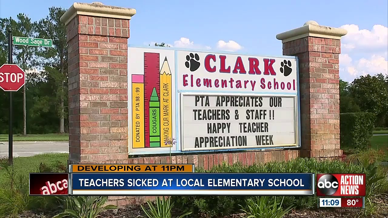 TAMPA, FLORIDA: WHITE TEACHERS SICKENED AT CLARK ELEMENTARY SCHOOL