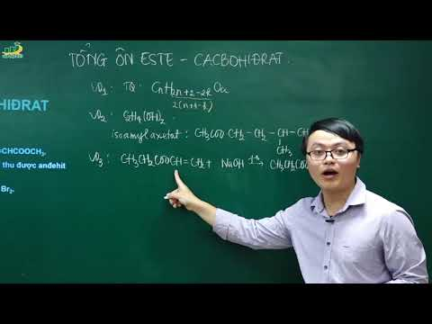 Hóa Học Lớp 12- Chương 1: Este- Lipit - Ôn Tập Este – Cacbohiđrat   Bài Tập Có đáp án