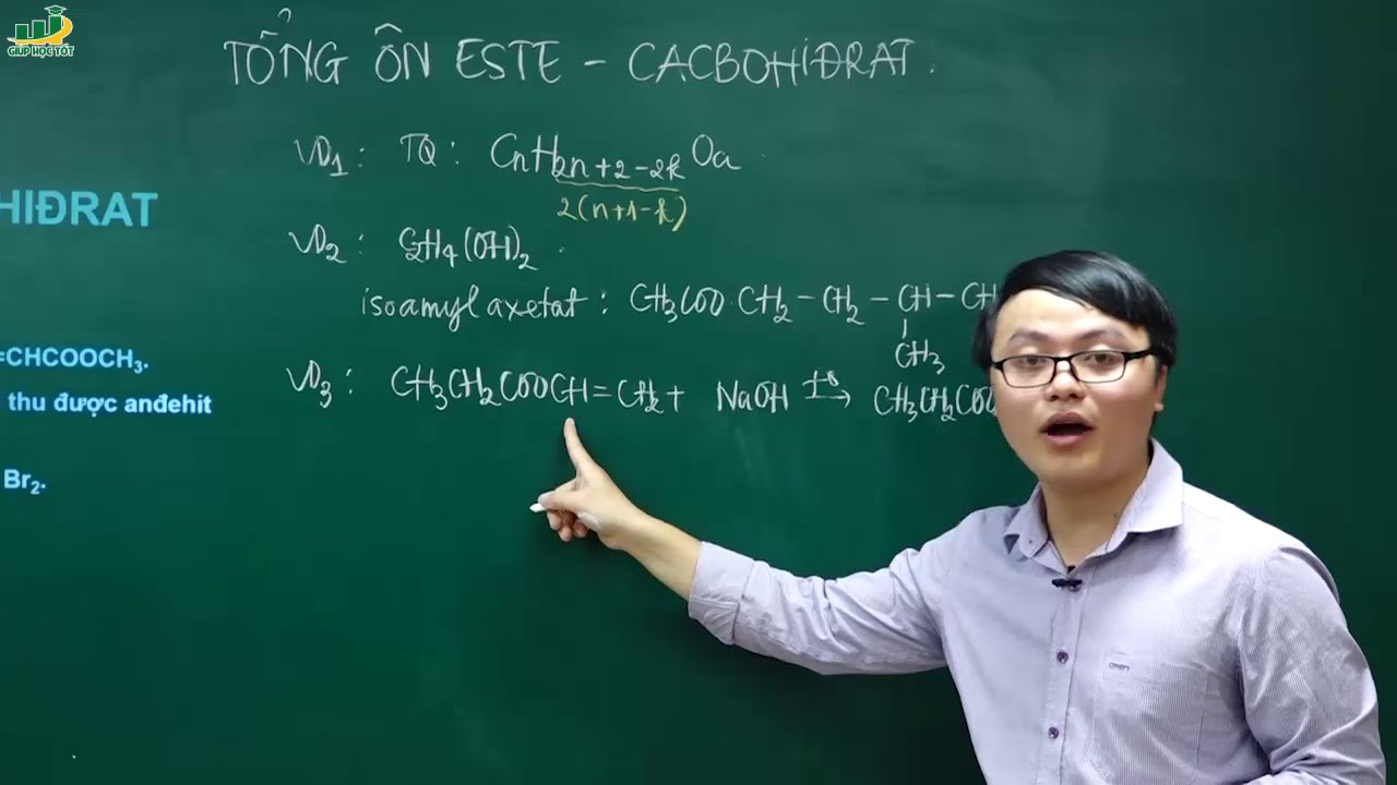 Hóa Học Lớp 12- Chương 1: Este- Lipit – Ôn Tập Este – Cacbohiđrat | Bài Tập Có đáp án