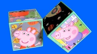 Peppa Pig Sound Cubes Nickelodeon Puzzle Toy Review with Phrases n Sounds