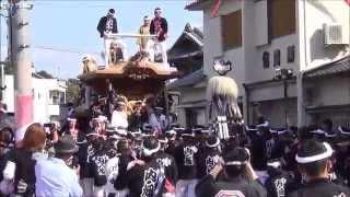 平成25年 山直南・山滝だんじり祭り 本宮 7町パレード 2013/10/13(日)
