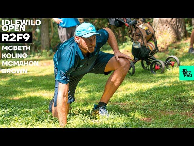 2020 IDLEWILD OPEN | R2F9 LEAD | McBeth, Koling, McMahon, Brown | Jomez Disc Golf