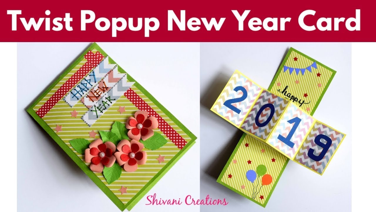 Recyclables Blog Twist Popup Card Diy New Year Popup