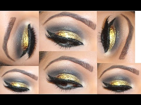 GLITTER MAKEUP TUTORIAL WITH MAKE UP FOR EVER - YouTube