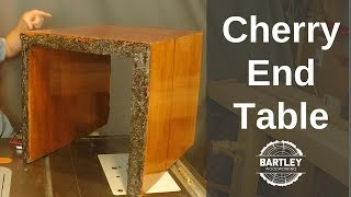 DIY Cherry Slab End Table