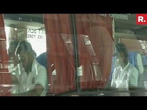 Indian And Australian Cricket Teams Arrive In Kolkata