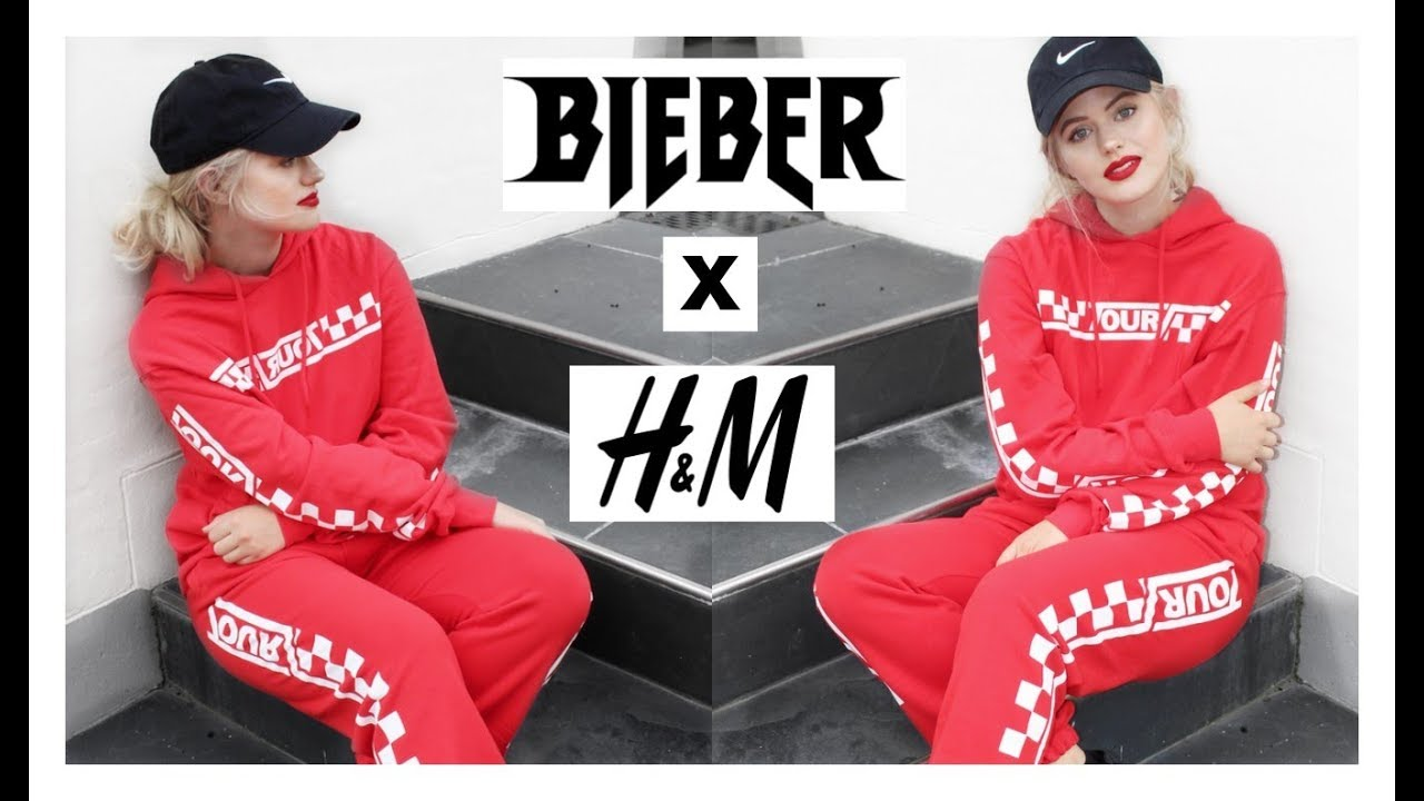 justin bieber x h m merchandise try on haul youtube. Black Bedroom Furniture Sets. Home Design Ideas