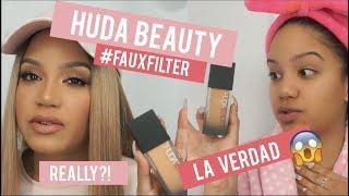 HUDA BEAUTY FAUX FILTER FOUNDATION REVIEW   RESEÑA DE LA BASE DE HUDA BEAUTY