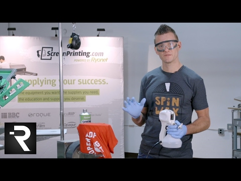 How To Use Ryonet's Cured Ink Spot Remover & Spot Gun For Screen Printing