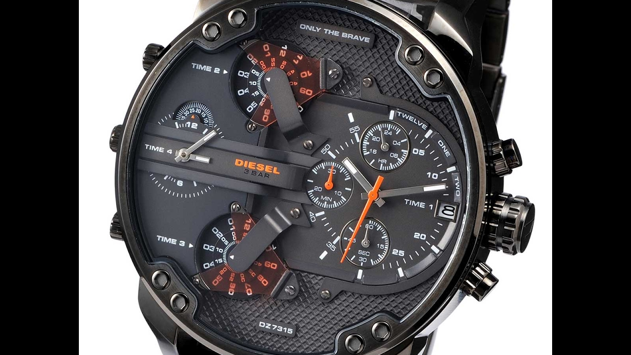 f5f76bb009c1 DIESEL DZ7315 MENS WATCH MR. DADDY 2.0 CHRONO GUNMETAL REVIEW ディーゼル ガンメタル  レビュー メンズ