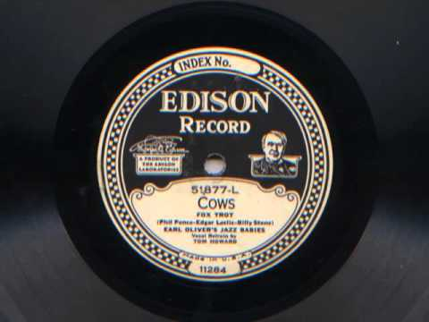 Cows By Earl Oliver's Jazz Babies (Harry Reser), 1926