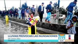 Fuertes lluvias provocan inundaciones y caos vial en la CDMX | Noticias con Francisco Zea