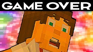 ALL GAME OVER SCENES - Minecraft: Story Mode Season 2 Episode 4: Below The Bedrock