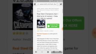 Cara Mendownload Apk Mod Real Steel Champion Di Revdl Work 100%