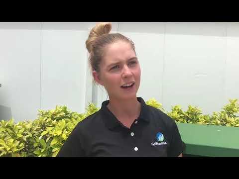 Alizza Hetherington after the 2018 Women's Amateur Asia Pacific