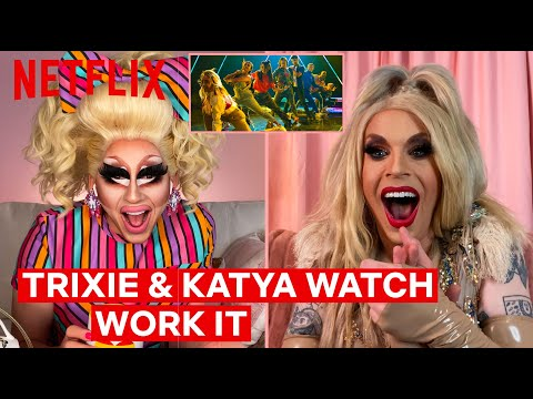 Drag Queens Trixie Mattel & Katya React to Work It | I Like to Watch | Netflix
