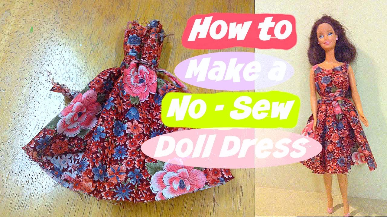 How to make a no-sew doll dress - YouTube