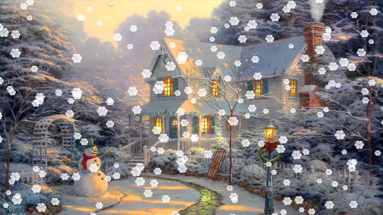 christmas eve animated wallpaper httpwwwdesktopanimatedcom - Animated Christmas Wallpaper