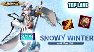 YUKI DOJI NEW SNOWY WINTER SKIN TOP LANE GAMEPLAY - ONMYOJI ARENA
