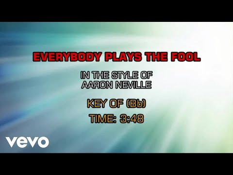 Aaron Neville - Everybody Plays The Fool (Karaoke)