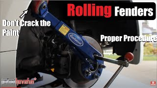 How to Roll a Fender / Fender Rolling / Wheel Arch Clearance (Nissan 350Z)