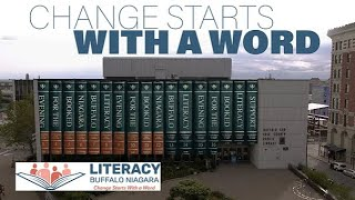 """How many times a day do you read something? """"Change starts with a word."""""""