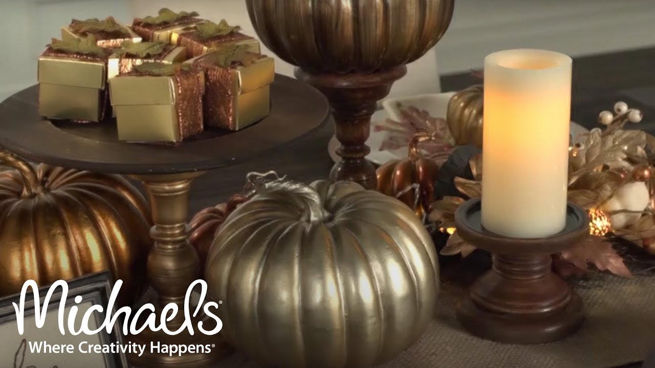 How to create a fall tablescape michaels youtube