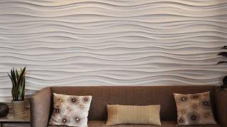 3d Панели из потолочной плитки. Декоративная стена. Настенное панно своими руками.