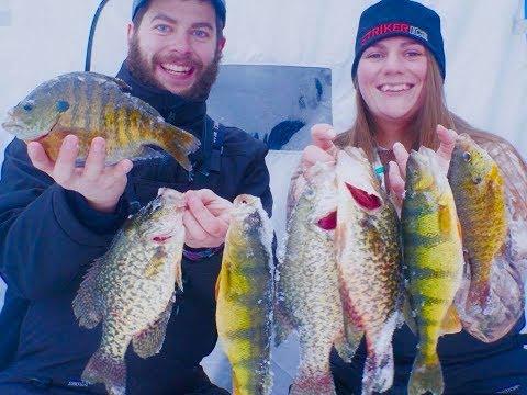 Ice Fishing Northern WI GIANT PANFISH!