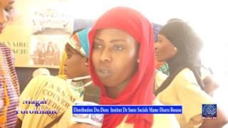 Distribution Des Dons Institut De Sante sociale Mame Diarra bousso