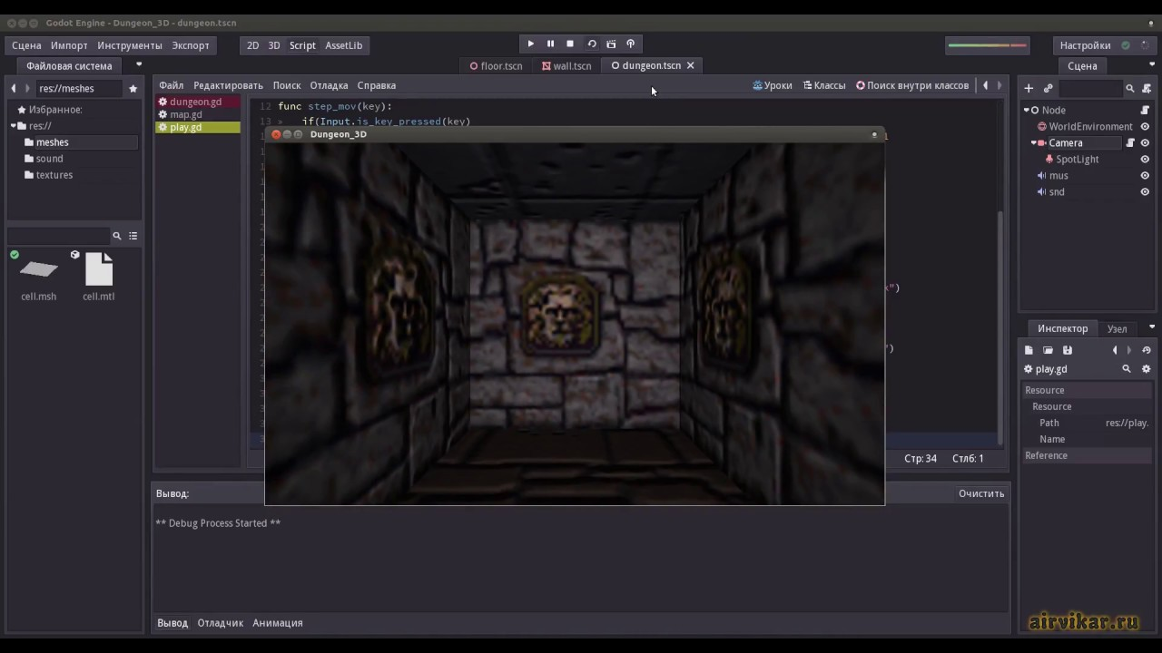 Godot Engine: 3D First Person Dungeon Crawler - Part2 (First Person  Control) by Airvikar