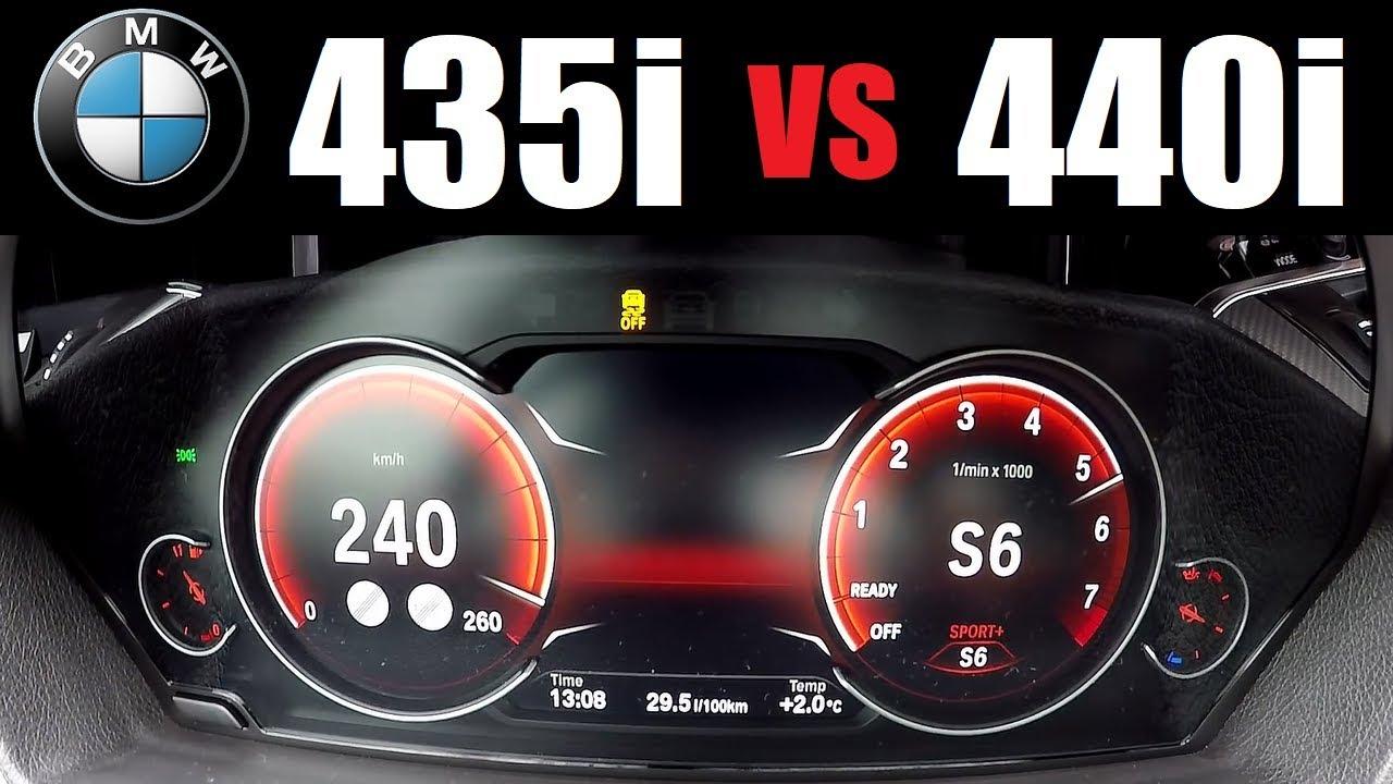 2017 Bmw 440i B58 Vs 2014 Bmw 435i N55 Acceleration 0 200 Kmh