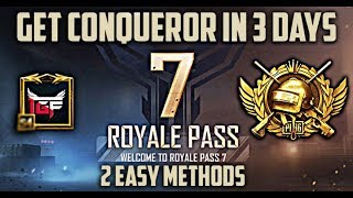 How to Get  Conqueror Badge in 3 to 7 days in Pubg Mobile   TGF100   SpartanPoker