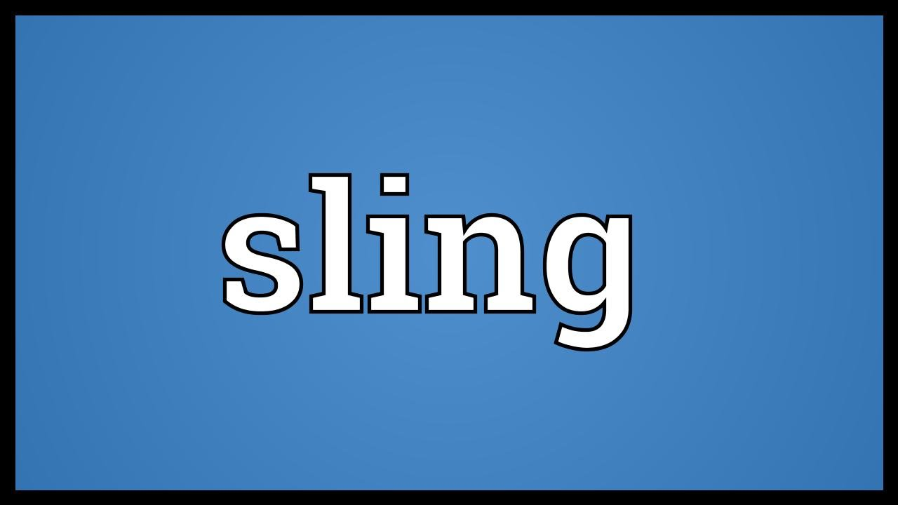 Sling Meaning - YouTube
