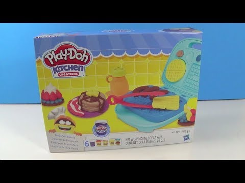 Unboxing Play-Doh Kitchen Creations Breakfast Bakery