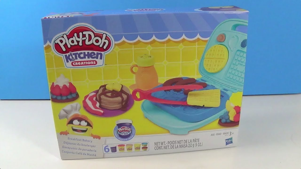 Unboxing Play Doh Kitchen Creations Breakfast Bakery Youtube