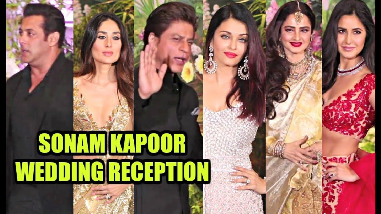 Image result for King Khan and Salman Bhai sonam kapoor's reception