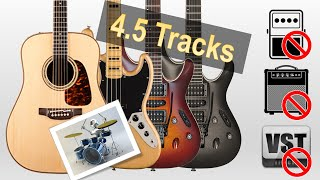 PlayX Mark I - Jam 4.5 tracks rock in 5 minutes - No Amp, pedals, plugins