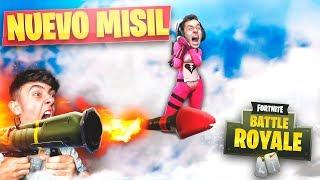 MEJORES MOMENTOS CON EL NUEVO *MISIL TELEDIRIGIDO* en FORTNITE: Battle Royale!! - Agustin51