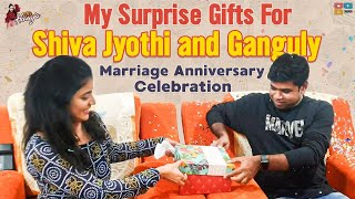 My Surprise Gifts for Shivajyothi and Ganguly | Marriage Anniversary Celebration | Lasya & Manjunath