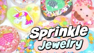DIY RESIN For Beginners - Sprinkles to Jewelry - Pendant Charm - How To   SoCraftastic