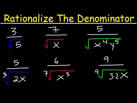 Rationalize The Denominator And Simplify With Radicals